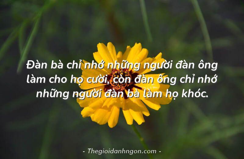 dan ba chi nho nhung nguoi dan ong lam cho ho cuoi con dan ong chi nho nhung nguoi dan ba lam ho khoc - Chào mừng bạn đến với Thế giới danh ngôn