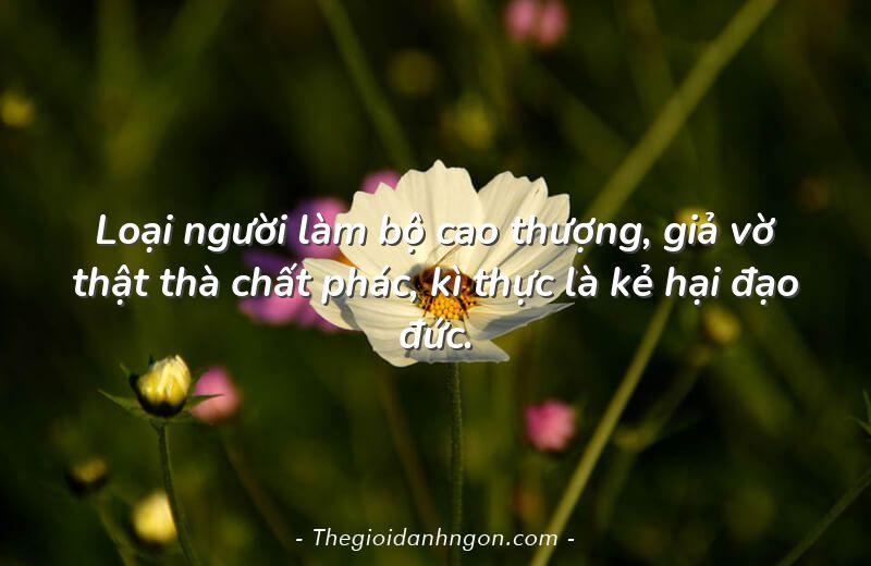 loai nguoi lam bo cao thuong gia vo that tha chat phac ki thuc la ke hai dao duc - Chào mừng bạn đến với Thế giới danh ngôn